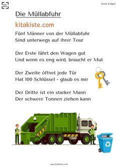 """""""The garbage disposal"""" finger game-""""Die Müllabfuhr"""" Fingerspiel Finger game on the subject of garbage disposal – from the eBook finger games"""" by Kitakiste - Baby Shower Fun, Baby Shower Parties, Baby Showers Juegos, Finger Games, Bridal Shower Balloons, Die Games, We Are Teachers, Finger Plays, Baby Shower Decorations For Boys"""