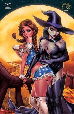 Grimm Fairy Tales presents Oz - Part 5 of Goodbye Yellow Brick Road (Issue) Fairytale Fantasies, Fairytale Art, Bd Comics, Comics Girls, Adult Cartoons, Sexy Cartoons, Comic Books Art, Comic Art, Book Art
