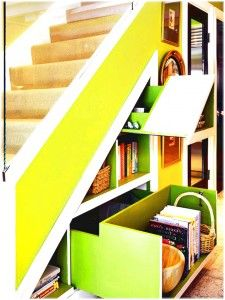 Best Extra Storage Benefits Staircase With Yellow Ladder