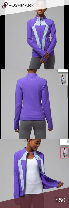 NWT Ivivva Perfect your Practice jacket Youth 14 Brand new with tags Perfect your practice jacket from Ivivva. Ivivva is the youth line by lululemon. This is a girls 14, which is similar to a petite 4 ladies.  Purple. $78 in stores and online now. Ivivva Jackets & Coats