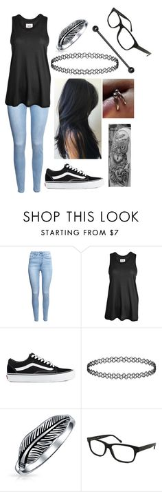 """""""Untitled #960"""" by xxghostlygracexx ❤ liked on Polyvore featuring H&M, Zoe Karssen, Vans, Bling Jewelry and Kenneth Cole"""