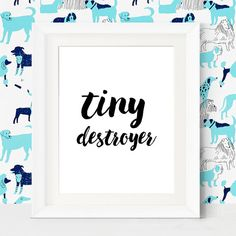 Ha ha this perfectly describes my ambitious little boy. He can take out a room in the blink of an eye!  Children's Nursery Art Print by LittleWants