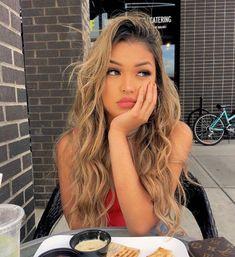 Hair Color Ideas hair color ideas for tan skin Blonde Asian Hair, Blonde Hair With Bangs, Tan Blonde, Blonde Hair Girl, Blonde Hair With Highlights, Brown Blonde Hair, Asians With Blonde Hair, Tanned Skin Blonde Hair, Blondish Brown Hair