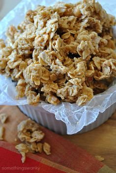 Chewy 4 ingredient Peanut Butter Granola