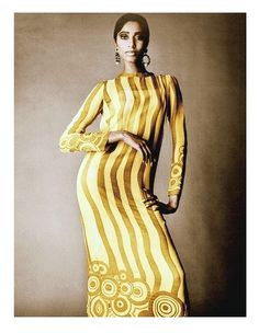 """They called her """"the reincarnation of Nefertiti."""" She was Donyale Luna, first in a number of firsts -- the world's first black supermodel and arguably the first African-American supermodel, and the first to grace a Vogue cover."""