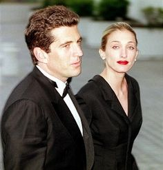 John F. Kennedy, Jr. and his wife Carolyn Bessette Kennedy arrive at the annual John F. Kennedy Library Foundation dinner and Profiles in Courage awards in honor of the former President's 82nd Birthday, Sunday, May 23, 1999 at the Kennedy Library in Boston, MA.