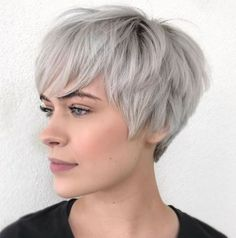 Pixie Haircuts for Thick Hair – 50 Ideas of Ideal Short Haircuts Choppy Pixie For Thick Coarse Hair Oval Face Haircuts Short, Pixie Haircut For Thick Hair, Messy Short Hair, Short Hairstyles For Thick Hair, Short Brown Hair, Short Hair Cuts For Women, Hairstyles With Bangs, Easy Hairstyles, Curly Hair Styles