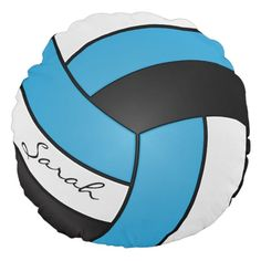 Child Blue, Black and White Volleyball | DIY Identify Spherical Pillow. >>> Find out even more by going to the image