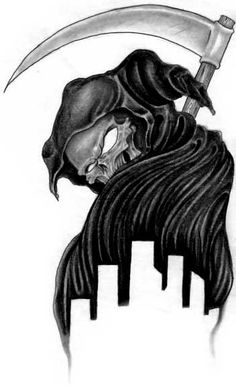 Skull  Grim Reaper Tattoos  I would soooo want this on my shoulder