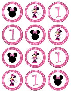 edible minnie mouse cupcake toppers images for cupcakes