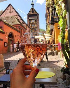 Tasting the various Crémant d'Alsace Brut Rosés in this fairytale village. Alsace, Zurich, Health Coach, Fairytale, Rose, Instagram, Fairy Tail, Fairytail, Pink