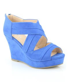 Look at this Blue Wrap Nine Wedge on #zulily today!