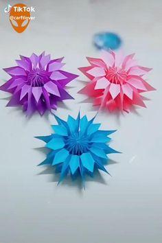 Diy Crafts Hacks, Diy Crafts For Gifts, Diy Arts And Crafts, Crafts For Kids, Diy Crafts With Paper, Color Paper Crafts, Paper Art, Instruções Origami, Paper Crafts Origami