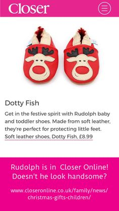 4fca36493bc Check it out! Closer online included our very own Rudolph shoes in their  list of