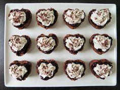 Chocolate Cherry Valentine Cupcakes (gluten-free, dairy-free, egg-free)