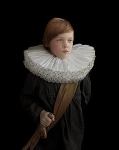 """In the portrait series """"Foam Sculptures,"""" Dutch photographer Suzanne Jongmans adorns her subjects in packing foam costumes and creates wonderful portraits of them in a style reminiscent of 17th century Dutch Golden Age portraiture."""