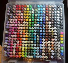 Copic Marker Set, Copic Sketch Markers, Marker Pen, Copic Pens, Marker Storage, Storage Bins, Art Supplies Storage, Cool School Supplies, Sisters Art