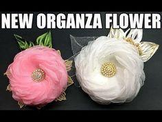 D.I.Y. New Organza Fabric Flower   MyInDulzens - YouTube