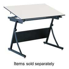 """Safco 3957 - PlanMaster Drafting Table Base, 42-1/8w x 29-1/2d x 27-3/4h, Black by Safco. $402.28. Safco PlanMaster Adjustable Drafting Table Base 37.5"""" Height Steel Black Base. Save 37%!"""