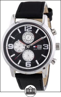 Tommy Hilfiger 1710335 - Reloj de cuarzo para hombre, correa de cuero color negro de  ✿ Relojes para hombre - (Gama media/alta) ✿