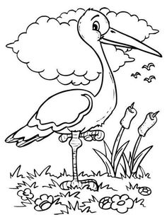 Bird Coloring Pages - Bing Images Fall Coloring Pages, Animal Coloring Pages, Coloring Pages For Kids, Free Coloring, Coloring Books, Art Drawings For Kids, Drawing For Kids, Art For Kids, Kids Story Books