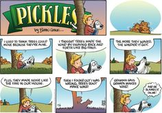 Creator Brian Crane's daily comic strip Pickles is about an older couple that is finding out retirement life isn't all it's cracked up to be. Cute Comics, Funny Comics, Life Humor, Mom Humor, Cartoons Magazine, Funny Comic Strips, Calvin And Hobbes, The Funny, Funny Dogs