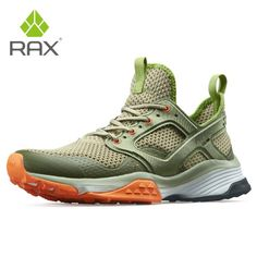 Rax Men Running Shoes Breathable Outdoor Shoes for Jogging Lightweight Trekking Shoes Women Anti-slip Outdoor Sneakers for Men Lacing Shoes For Running, Trekking Shoes, Jogging Shoes, Comfortable Sneakers, Sneaker Brands, Sports Shoes, Slip, Footwear, Store