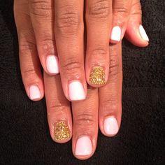 Gel mani w/ RockStar accent nails (courtesy of Sani)
