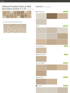 """Fidenza Porcelain Floor or Wall Decorative Accent 3"""" x 12"""". Glass Tile. Flooring & Rugs. Menards. PPG Pittsburgh. Behr. Benjamin Moore. Ralph Lauren Paint. Sherwin Williams. Valspar Paint. Dutch Boy.  Click the gray Visit button to see the matching paint names."""