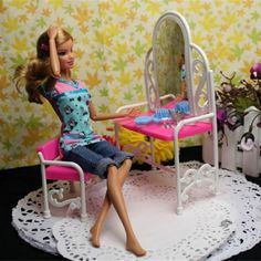 Fantasy Dressing Table & Chair Accessories Set For Dolls Bedroom Furniture Top Quality Hot Selling #>=#>=#>=#>=#> Click on the pin to check out discount price, color, size, shipping, etc. Save and like it!