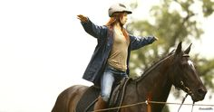 Mika (Hanna Binke) and Ostwind train in all weather conditions - Ostwind - Pferde Riding Stables, Horse Riding, Brad Pitt, Hanna Binke, Horse Dance, Horse Movies, Films Cinema, Black Stallion, Two Horses