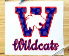 Wildcats svg, wildcat svg, wildcats, shirt, school sports svg, football, basketball, cheer svg, svg, svg file, silhouette, cricut, download by SunandSeaSVGs on Etsy Wildcats Basketball, Football, School Sports, Svg File, Cheer, Cricut, Silhouette, Handmade Gifts, Shirt