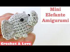 Tutorial mini Elefantino Amigurumi - Portachiavi ad uncinetto - YouTube