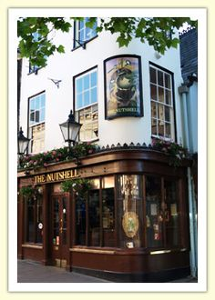 The Nutshell pub in Bury St. Edmunds is the smallest pub in England according to the Guinness (no pun intended) book of records. 15ftx7ft!