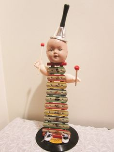 Xylophone Doll Assemblage
