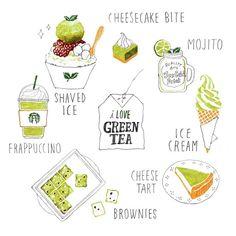 Green Tea ~ moreparsley illustration