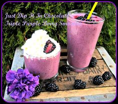 Just Dip It In Chocolate: Triple Purple Berry Smoothie