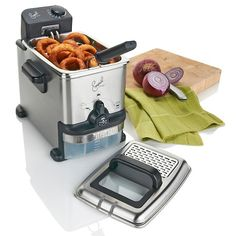Emeril Stainless Fryer with Oil Filtration System!!! Just purchase this!!! Yayyyyy!