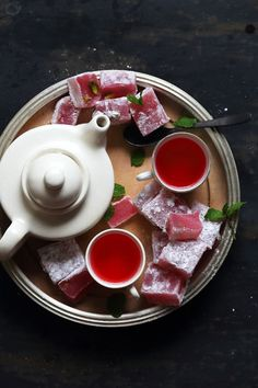 Recipe for traditional Rosewater & Pistachio Turkish-delight. A Middle-Eastern treat that is sweet and lightly fragranced with rose water.