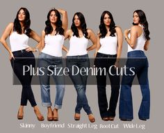 Style Your Plus Size Jeans Guide- The Fit and Style Guide- The only thing I see here is Plus HOT! Big Girl Fashion, Fashion 101, Curvy Fashion, Fitness Fashion, Plus Size Fashion, Fashion Ideas, Best Plus Size Jeans, Best Jeans, Dandy