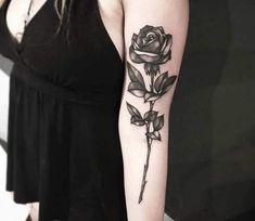 Beautiful Rose Tattoo - Wormhole Tattoo 丨 Tattoo Kits, Tattoo machines, Tattoo supplies Life Goes On Tattoo, Get A Tattoo, Rose Tattoo Meaning, Tattoos With Meaning, Tattoo Aftercare Tips, Yellow Tattoo, Professional Tattoo Kits, Rose Tattoos For Women, Tattoo Equipment