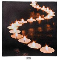 led schilderij met licht theelichten 4043936057416