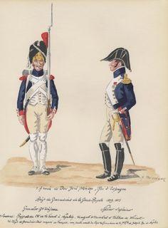 Espagne; 1809-1813. Regimiento de Granaderos de la Guardia de Jose Bonaparte.