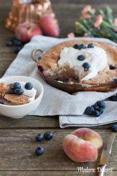 Ein Hauch USA – Rezept für lauwarmen Pfirsich Heidelbeer Cobbler   Madame Dessert