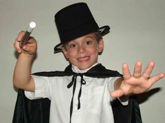 Child magician with wand.  http://www.magictricksreviewed.com/learn-simple-magic-tricks-for-kids #magic tricks #magic #magician #learn magic #card tricks #coin tricks #magic coin tricks #magic card tricks