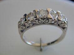Five Stone Diamond and Gold  Ring