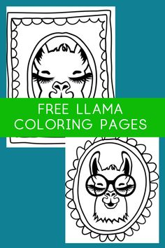 free printable llama coloring pages - coloring pages for kids - adult coloring