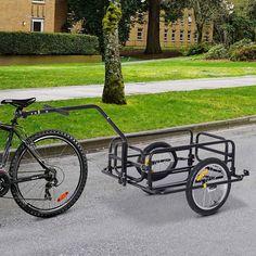 Bike Cargo Trailer, Motorcycle Trailer, Cargo Trailers, Cargo Bike, Utility Trailer, Bike Cart, Bringing Baby Home, Trailer Diy, Steel Frame Construction