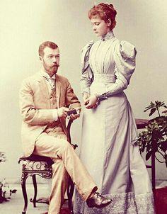 Tsar Nicolas II and his wife Empress Alexandra