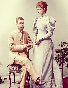 Tsar Nicolas II and his wife Empress Alexandra